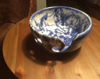 Blue and White Yarn Bowl