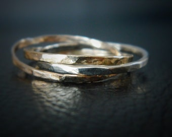 Infinity Ring, Gold Infinity Ring, Gold Jewelry, Interlocking Ring, Stacking Rings, Best Friends Rings