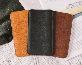 "Case for Samsung Galaxy Note 5, leather, wool felt, ""Dandy"""