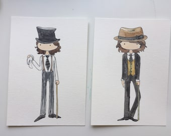 Benny and Joon-Sam original watercolors