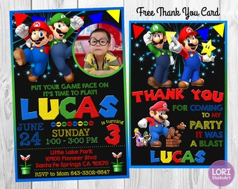 Super Mario Invitation, Super Mario Bros Invitation, Super Mario Party, Super Mario Birthday, Super Mario Invites, Super Mario Printables