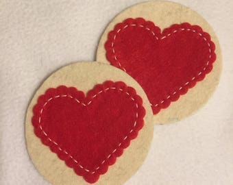 Heart Felt Coasters