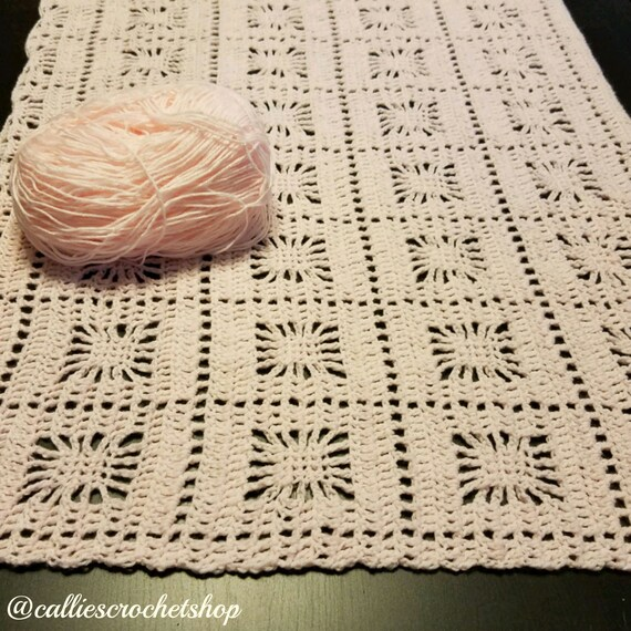 Pink Baby Blanketbaby Girl Blanketcrib Blanketspider Stitch