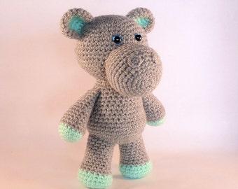 Amigurumi Hippo, Crochet Toy Hippo, Plush Hippopotamus, Stuffed Hippo, Crochet Animal Toy, African Animal, Made in Australia