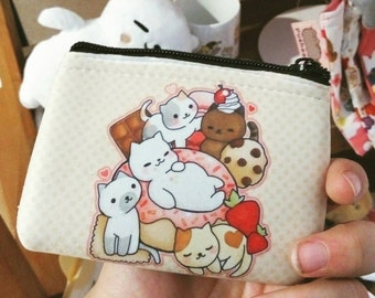 Neko atsume sweets and Tubbs coin purse / wallet