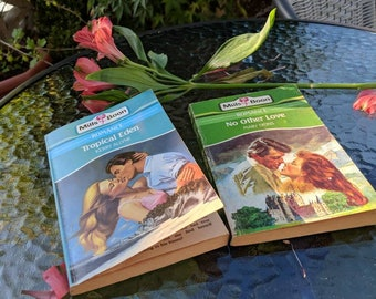 Vintage Mills & Boon pack of 2 No Other Love and Tropical Eden decorative books