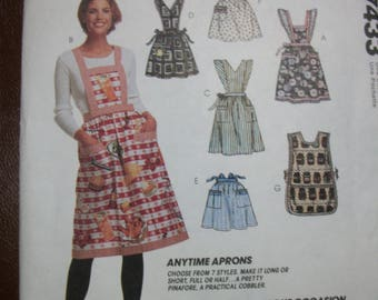 McCall 7433 Apron Package.  One Size.  Easy to sew!  Anytime aprons
