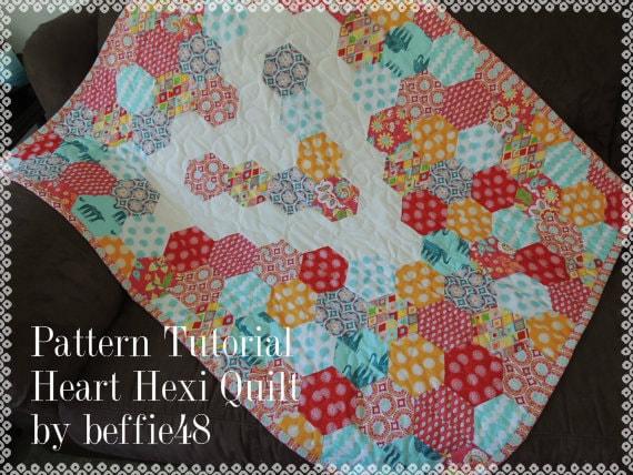 hexagon quilt template plastic - heart hexagon quilt pattern tutorial pdf use a jelly roll