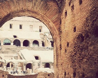 Colosseum photo, Rome photograph, Italy photography, travel photo, architecture print - Into the Colosseum