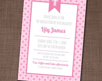 Ladybug party invitation ladybug invite ladybug birthday baby dedication baptism christening or first communion invitation with cross edit yourself at home solutioingenieria Choice Image
