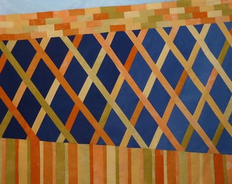 Covered Bridge Art Quilt