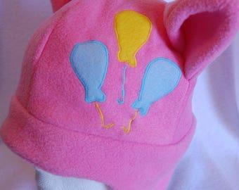Pinkie Pie Fleece Hat/ My Little Pony/ Pinkie Pie/ MLPFIM/ MLP/ Winter hat/ Costume/ Cosplay/ My Little Pony Friendship is Magic