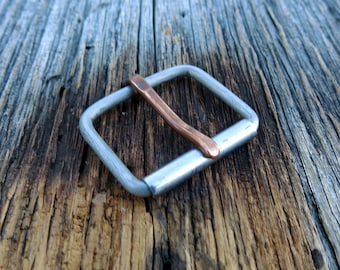 Stainless Steel Buckle - Copper Prong