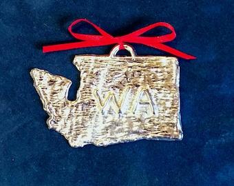Pewter Washington Ornament (WA)