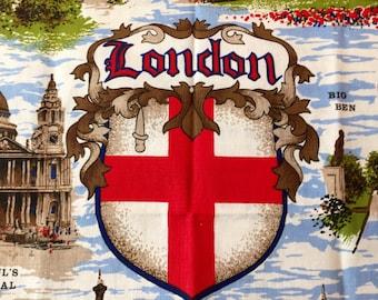 Vintage Souvenir Tea Towel from London Clive Mayor