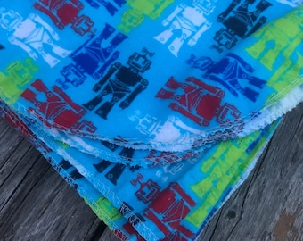 Robo Boogie Large Flannel Swaddle Receiving Blanket