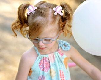 Hot air clip -  Balloon felt clip - Balloon pig tails - Hot air balloon bow - Hot air balloon feltie clip - Felt pig tails - Piggy tails