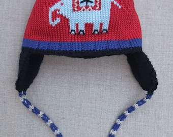 Knitted cotton hat