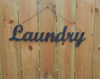Cutout Sign Laundry Cutout Wall Decor 6 x 24 Can Customize Personalize Cutout Sign Laundry Room Decor