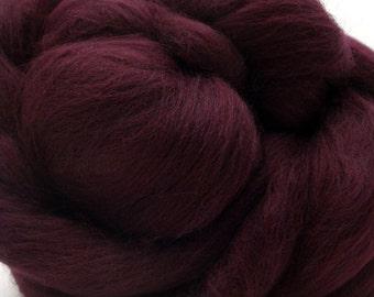 4 oz Merino Wool Top - Merlot