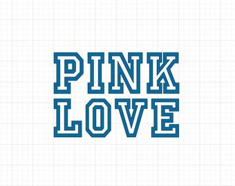 Pink Love - Iron On Vinyl Decal Heat Transfer