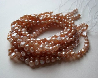 "Pink Pillow Pearls 5-6mm 16"" strand"