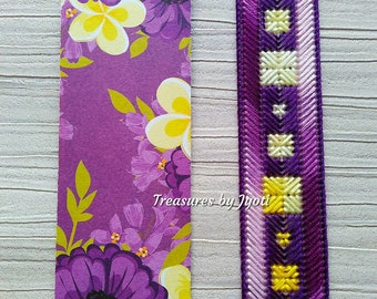 Hand embroidered multicoloured bookmarks, Teachers gift, embroidery bookmarks, bright colourful bookmarks, embroidery bookmark