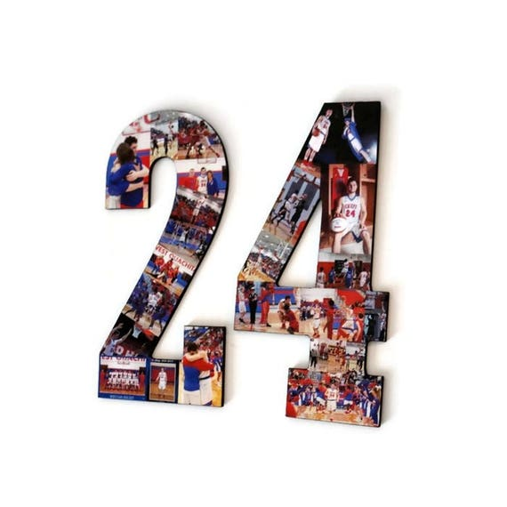 Number 24 Photo Number Collage Picture frame College Sport