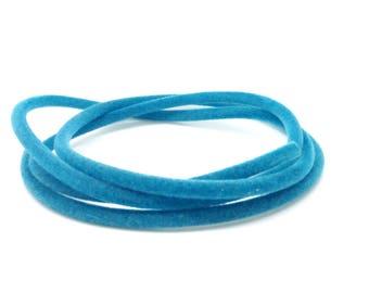 Cord buna suedine, turquoise