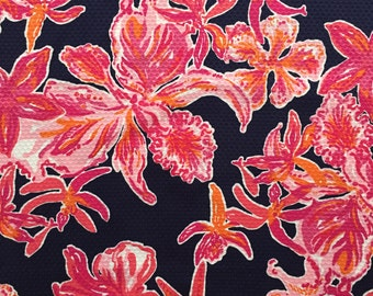 """bright navy via sunny pique cotton fabric square 16""""x16"""" ~ lilly resort 2015 ~ lilly pulitzer"""