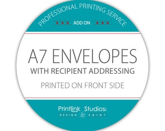ADD Printing Service - A7 Envelope with Recipient Addressing - #PS-IE-A7-3