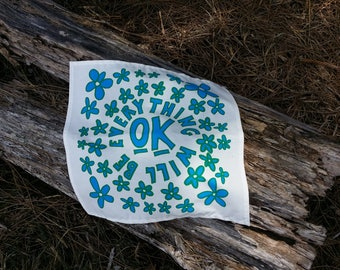 "Fun ""OK"" Handkerchief. Screen-Printed 