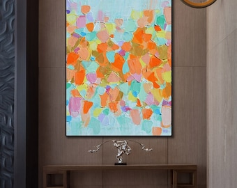 Abstract Painting, Color Block, Large wall art, Hand painted art on canvas, Modern oil painting wall art