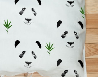 Panda bedding - Baby Duvet cover - Kids Bedding - Kids Duvet cover- Organic Bedding - Toddler Duvet - Toddler bedding - Print bedding