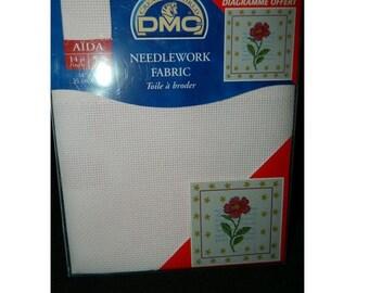 Pale Pink DMC Fabric - 14 Count Needlework Fabric