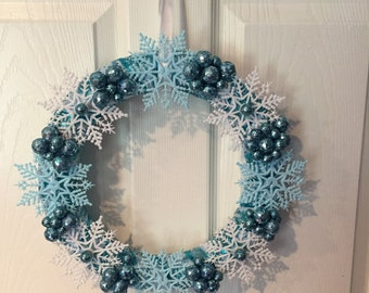 Snowflake Winter Winderland Wreath
