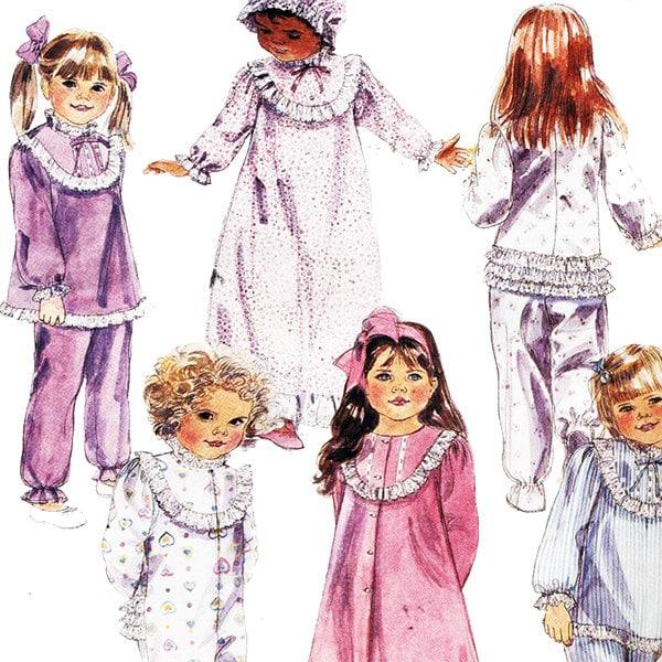 Costura patrón 3450 niños pequeños de McCall o niños bata, camisón, pijama,  Capo tamaño: 5 sin cortar