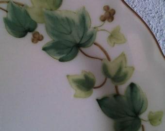 4 Nikko Bone China Ivy Salad Plates BV/mm