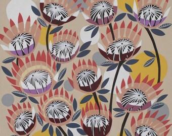 Protea Paper Print