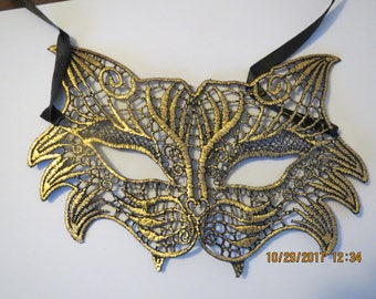 Party Mask, Black/Gold Party Mask