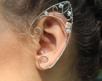 silver elfin ear cuffs