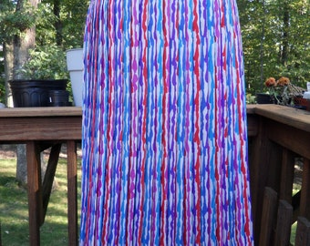 1970s Evan-Picone Candy Colored Stripe Pleated Skirt l Vintage Pleated Stripe Skirt l