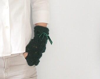 Deep Teal   Arm Warmer  Fingerless Gloves Mittens