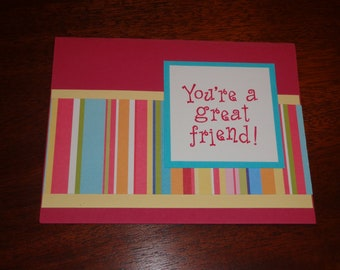 "Set of 7 Note Cards Greeting Cards ""You're a Great Friend!"""