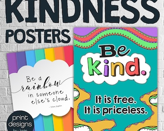 Kindness Posters • Classroom Posters • Teaching Kindness • Classroom Wall Decor • Posters for School • Teaching Posters • School Posters