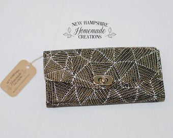 The Necessary Clutch Wallet - Brown Australian Fabric - Wallet - Women's Wallet