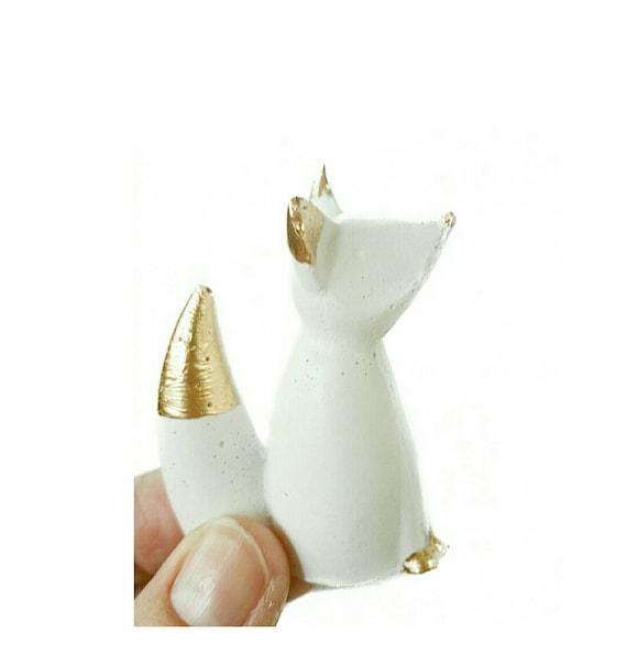 Fox Ring Holder, Fox Decor, Ring Holder, Jewelry Holder, Jewelry Dish, Ring Cone, Fox, Ring Tree, Jewelry Storage
