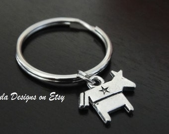 Democratic Donkey Symbol USA Elections Candidate Vote Key Chain