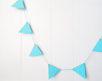 Forget Me Not Blue Triangle Bunting 5 ft