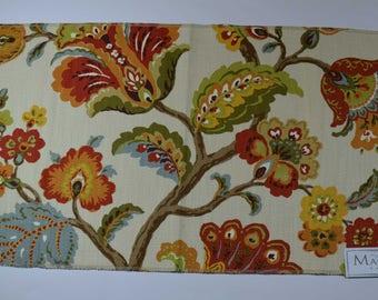 Floral home decor fabric, Magnolia designer fabric, fabric remnants, fabric showroom sample, handbags